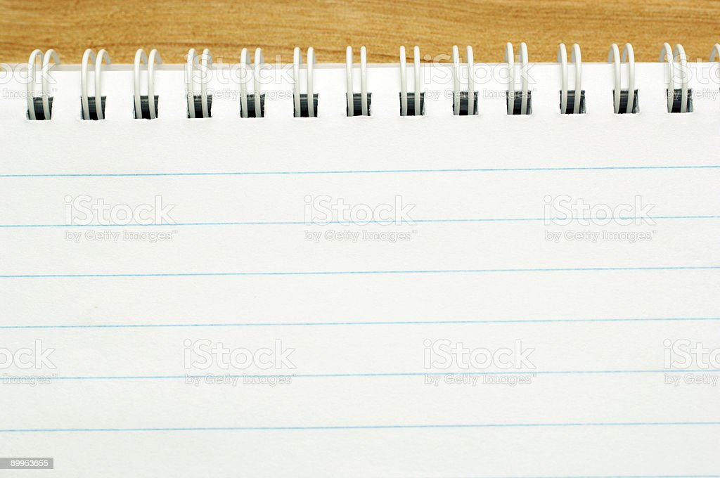 Blank Note pad close up, add your message stock photo