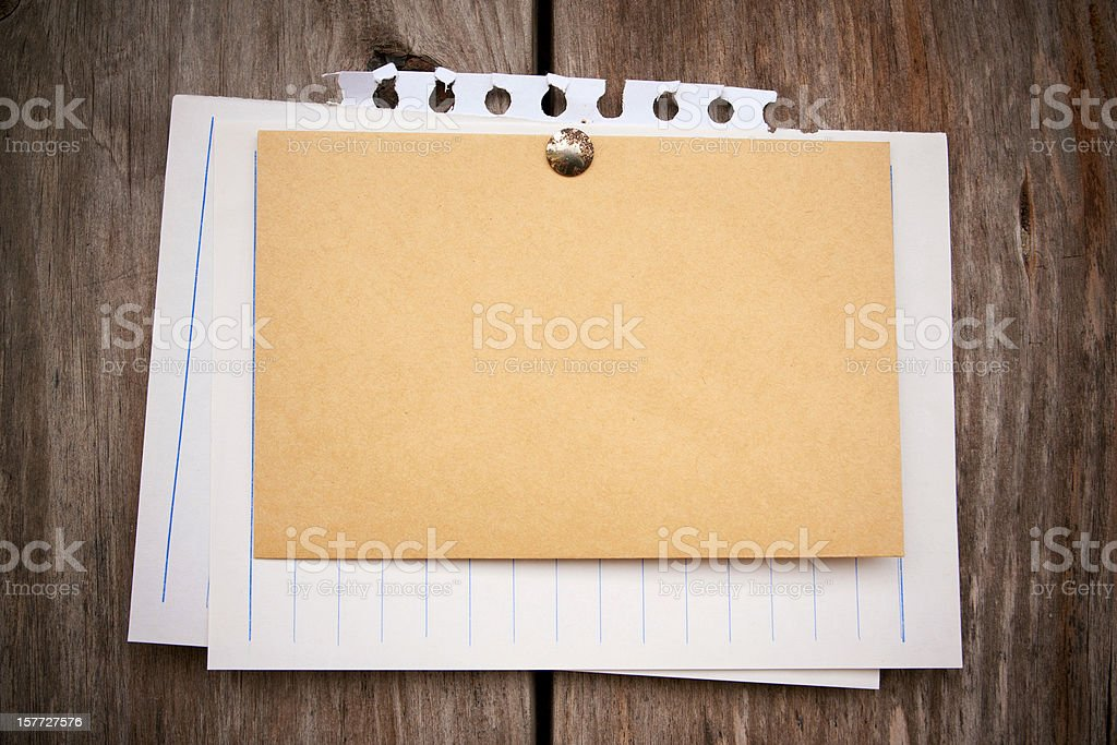 Blank note pad paper background textured royalty-free stock photo