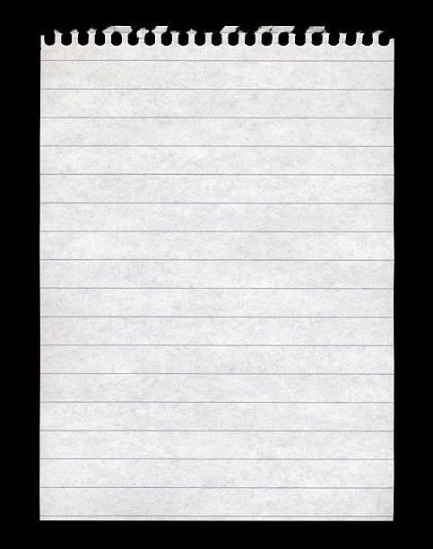 Blank note pad paper stock photo