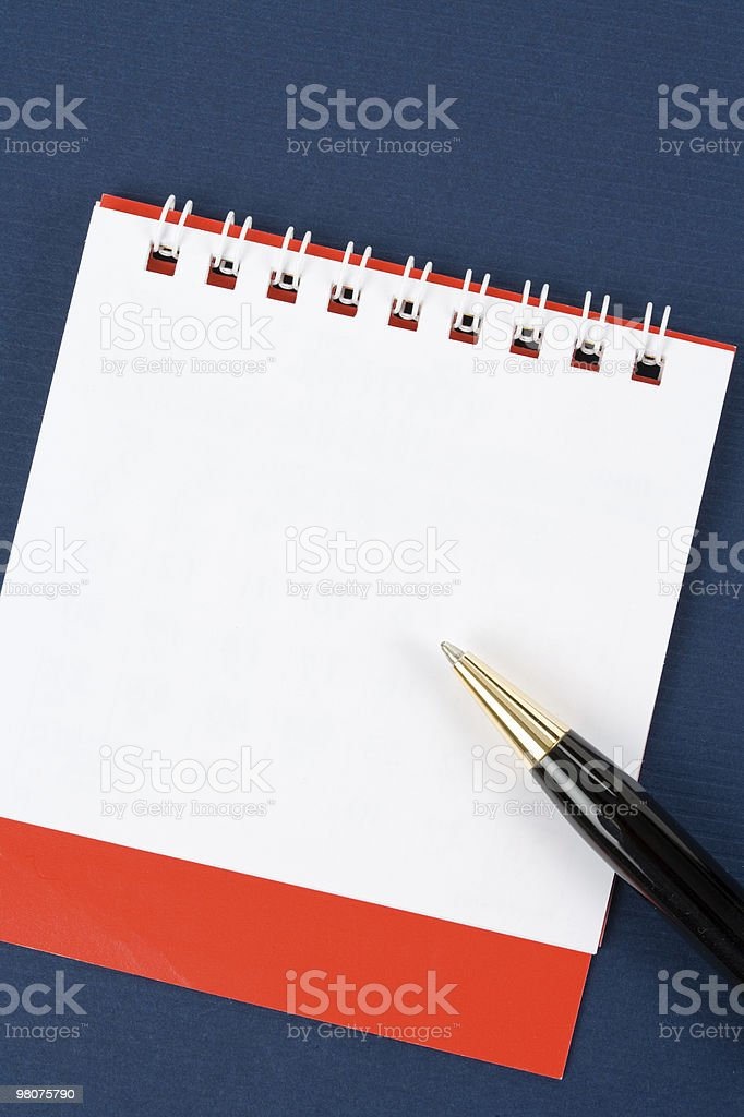 Blank Note Pad royalty-free stock photo