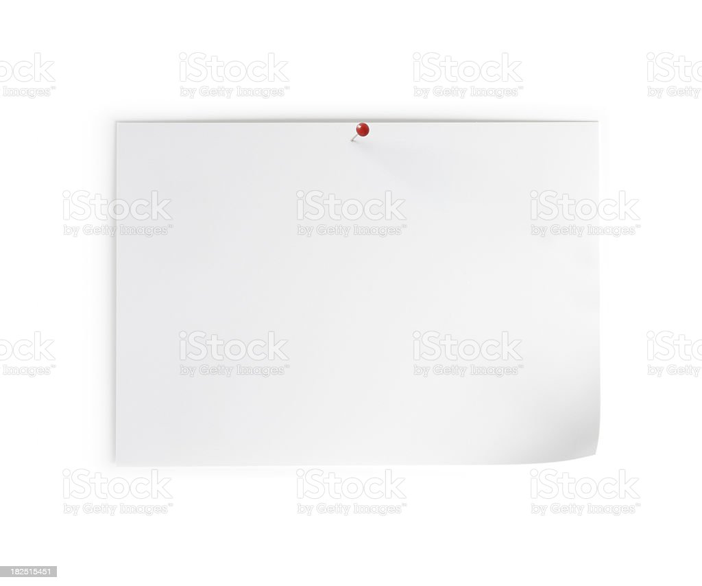 Blank note paper (landscape) royalty-free stock photo