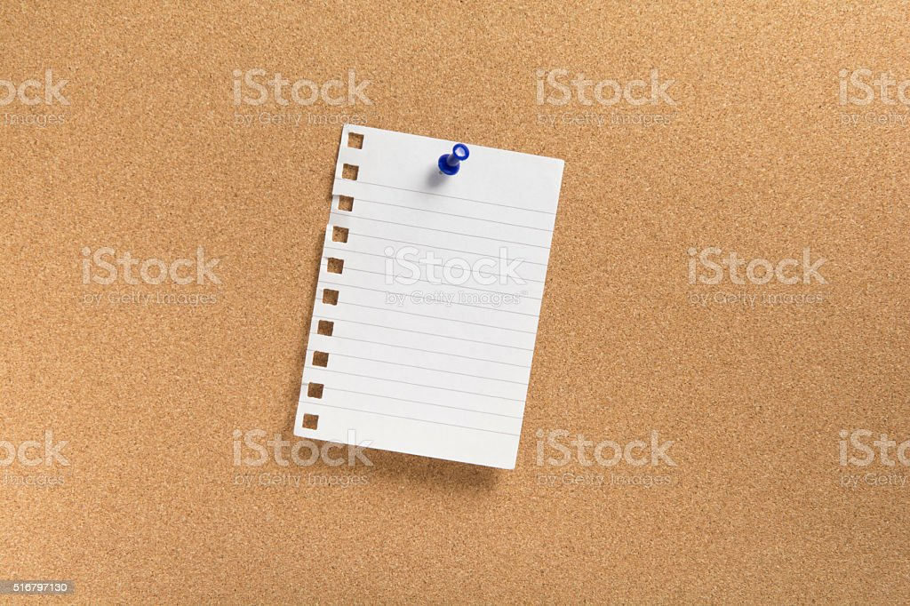 Blank note paper stock photo