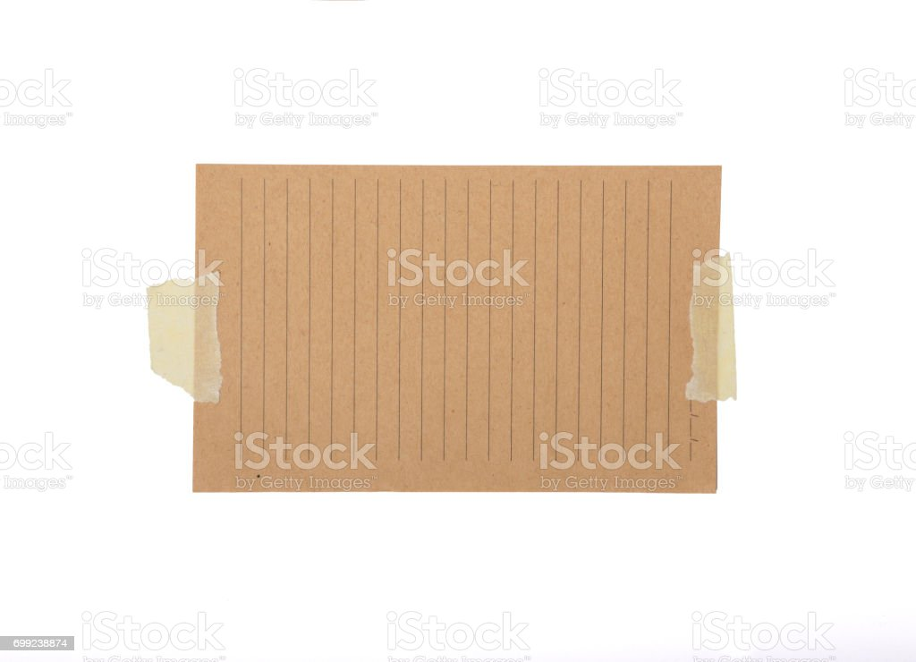 Blank Note Paper with Adhesive Tape stock photo