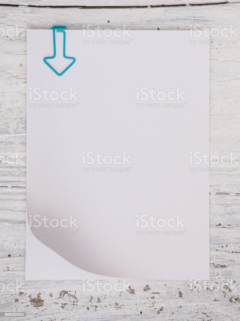 Blank Note Papers With Staple Stock Photo & More Pictures of 2017 ...