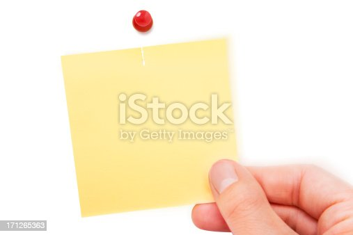 170011440 istock photo Blank note 171265363