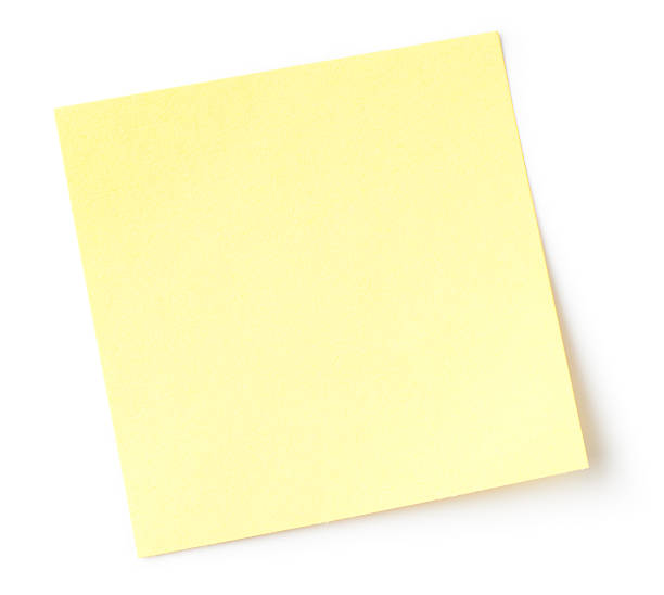 Blank note stock photo