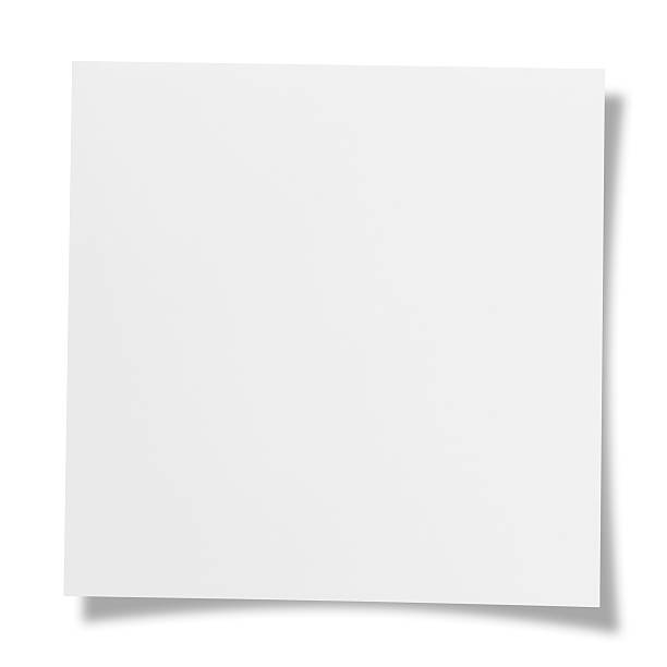 Blank note Blank note. square composition stock pictures, royalty-free photos & images