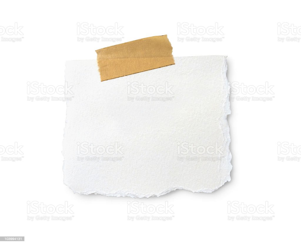 Blank Note With A Clipping Path royalty-free stock photo