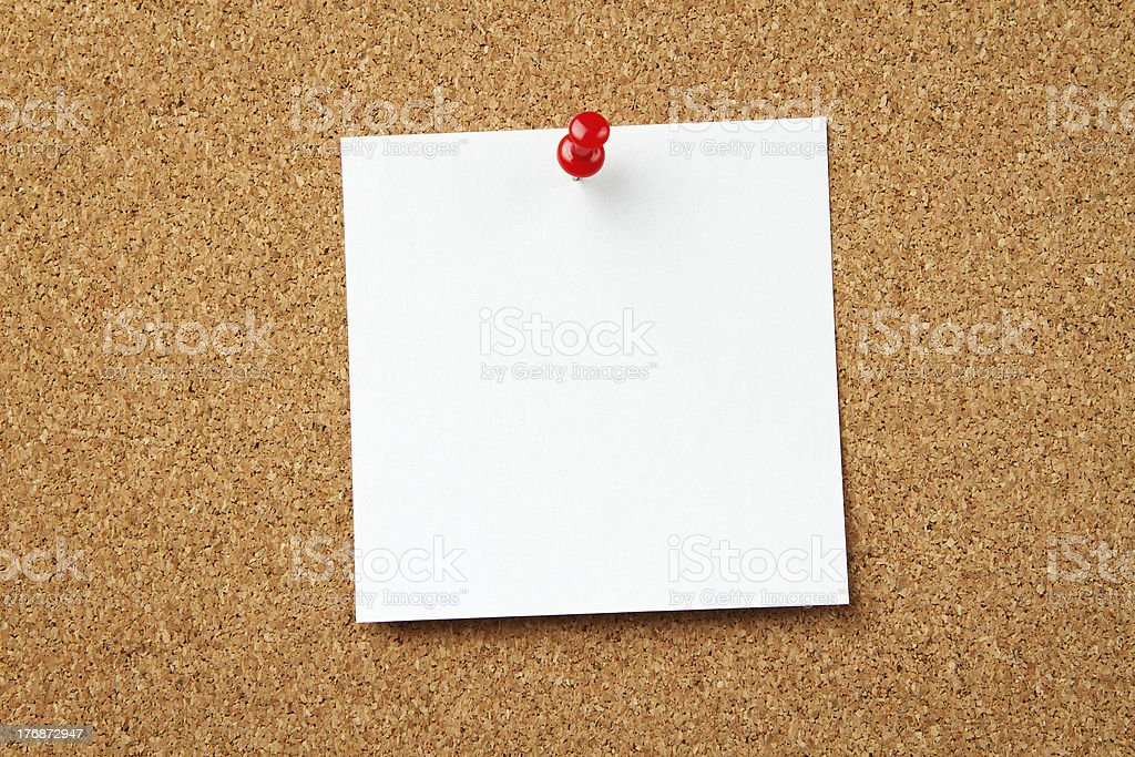 Blank note with copy space royalty-free stock photo
