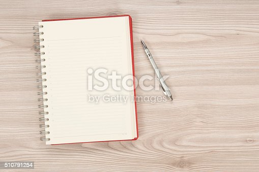 istock blank notebook on the table 510791254