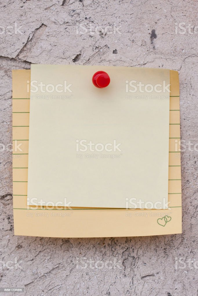 Blank Notebook page paper on wall background textured stock photo