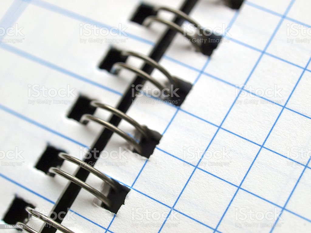 Blank notebook page royalty-free stock photo