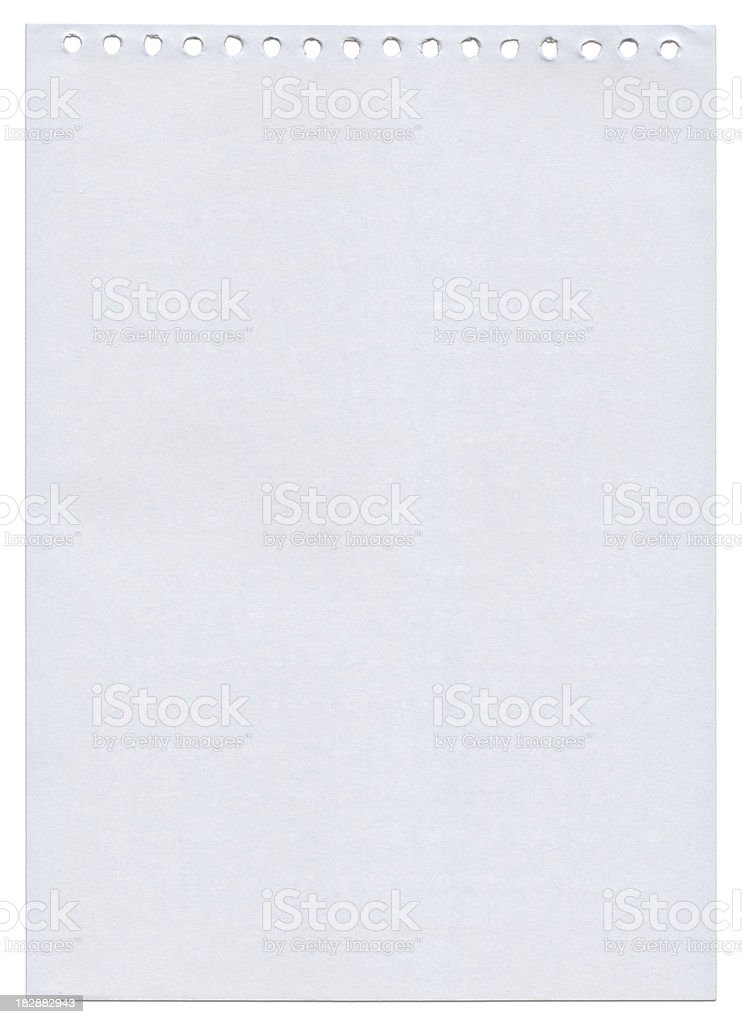 Blank notebook page stock photo