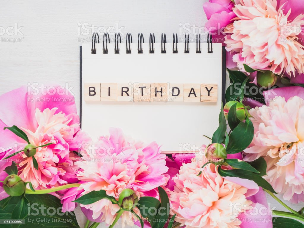 Blank Notebook Page With Birthday Greetings Stock Photo More