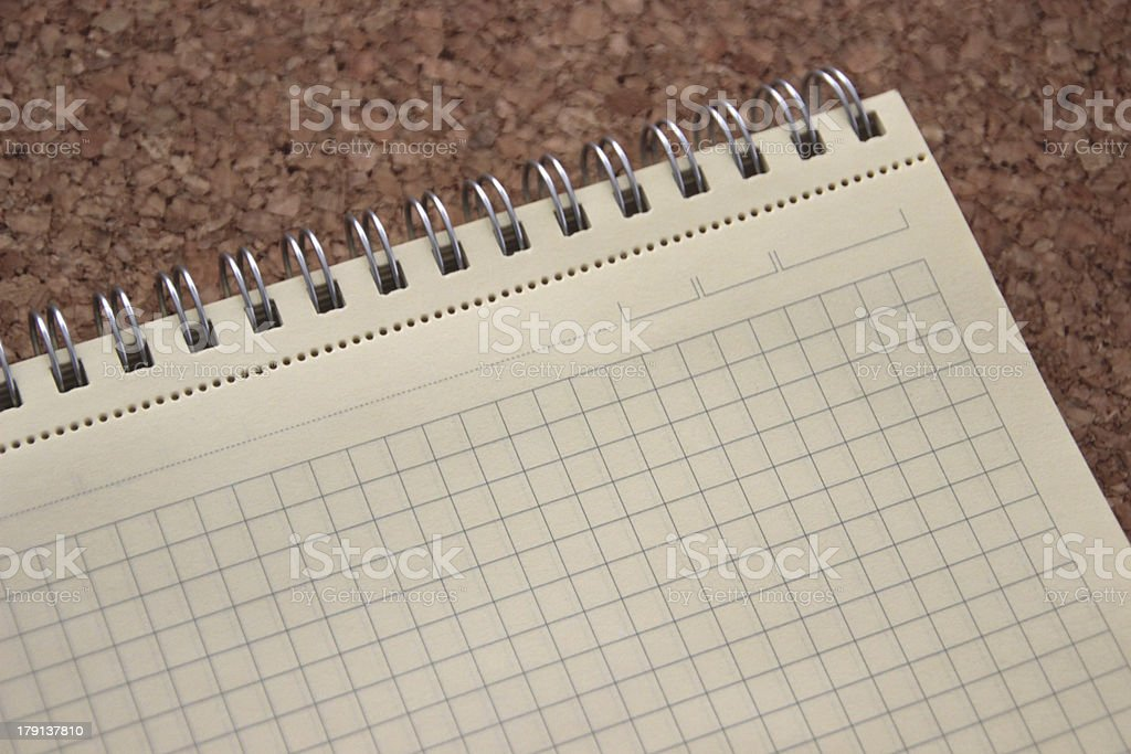 Blank notebook royalty-free stock photo
