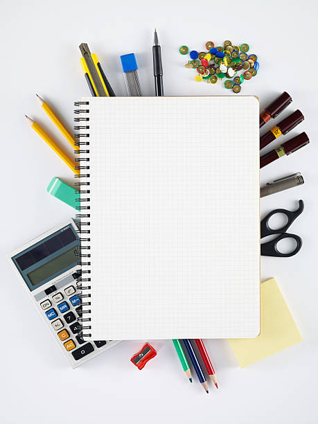 blank notebook - stationary stock photos and pictures