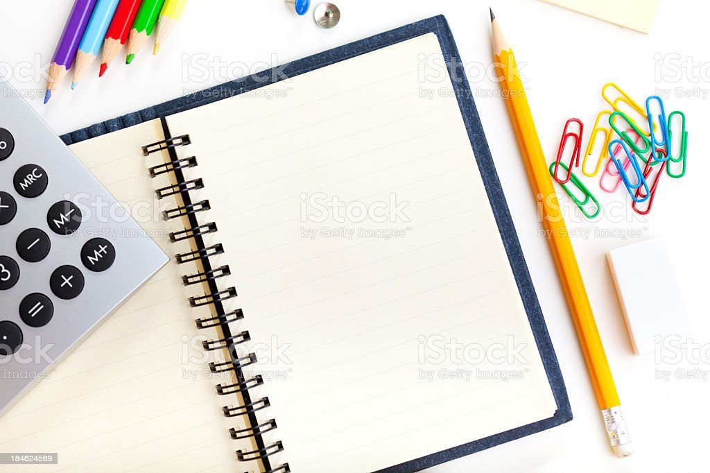 Blank notebook with copy space royalty-free stock photo