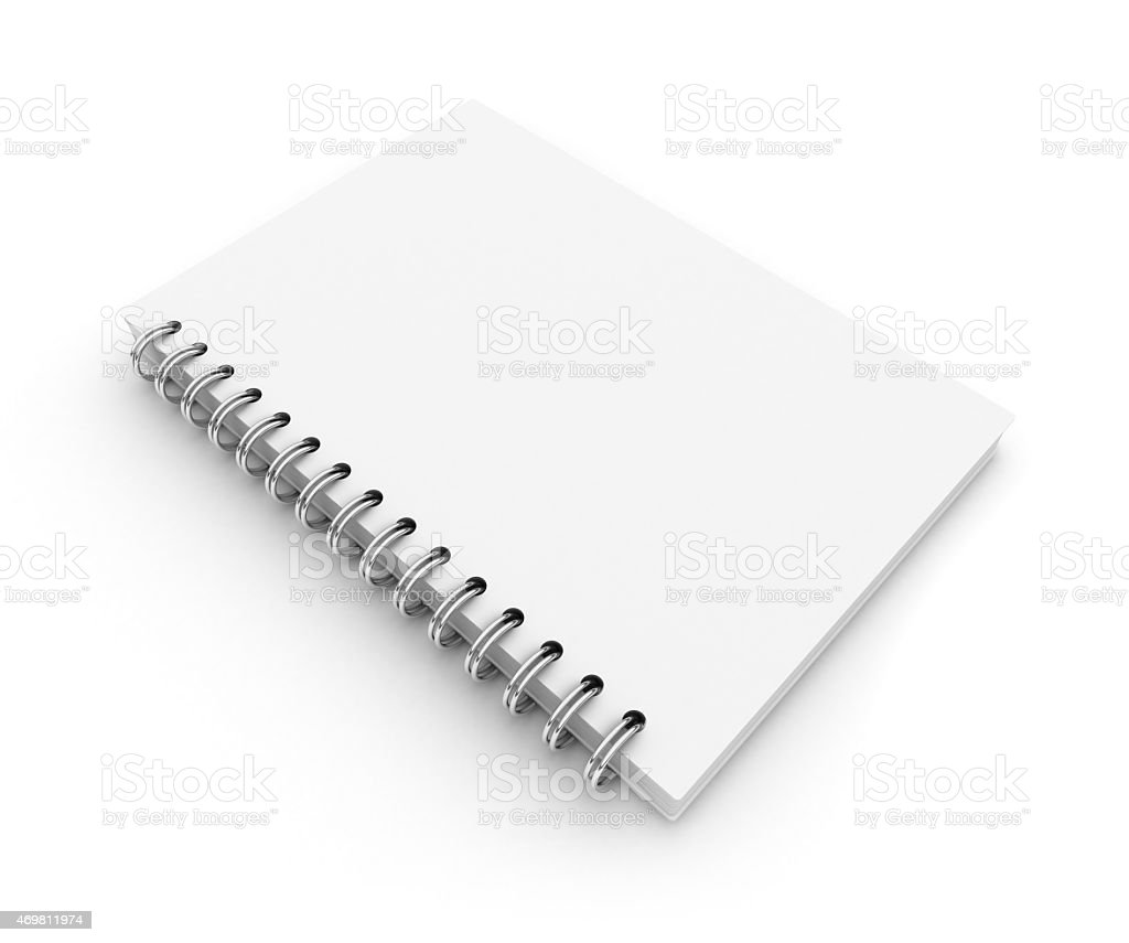 3D Blank notepad stock photo