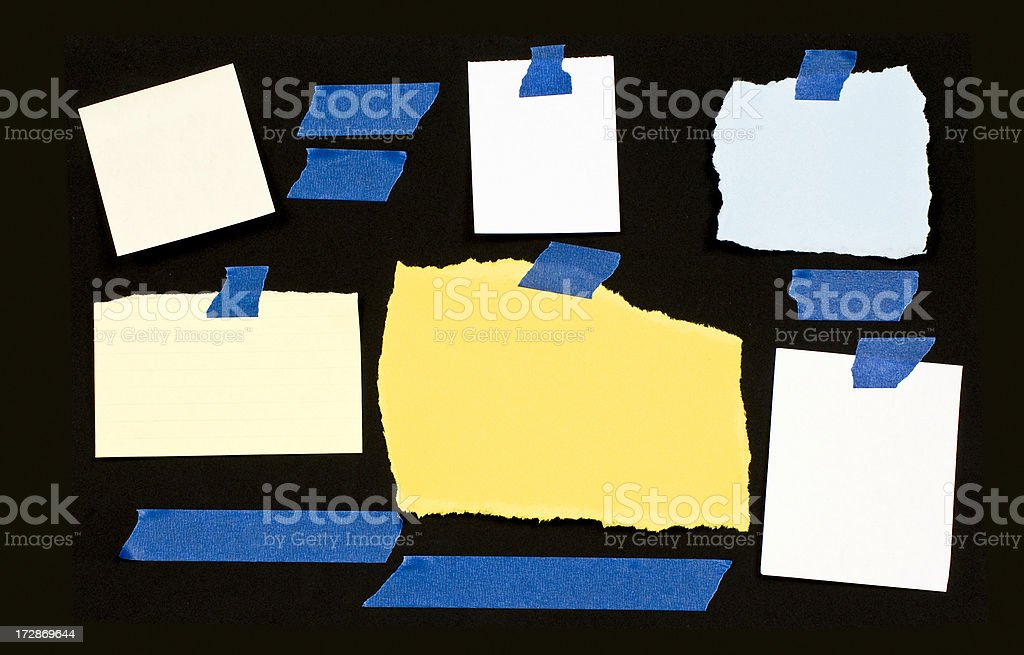Blank Notes and Tape royalty-free stock photo