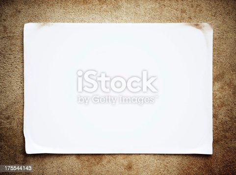 istock Blank Notice background texture 175544143