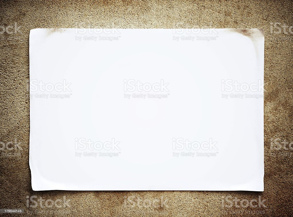 Blank Notice background texture stock photo