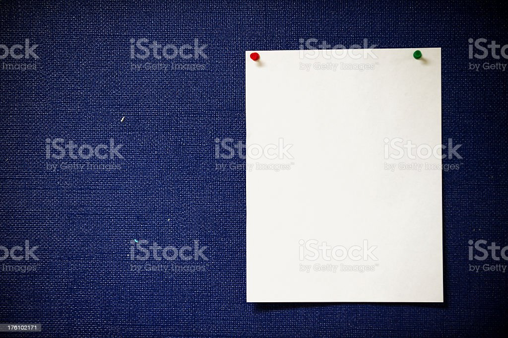 Blank Notice Board Paper royalty-free stock photo