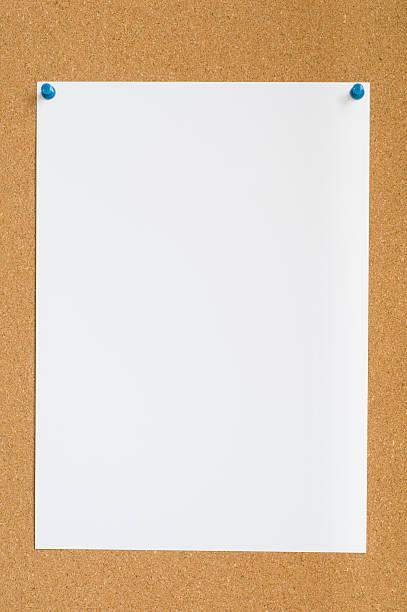 Blank notice on board stock photo