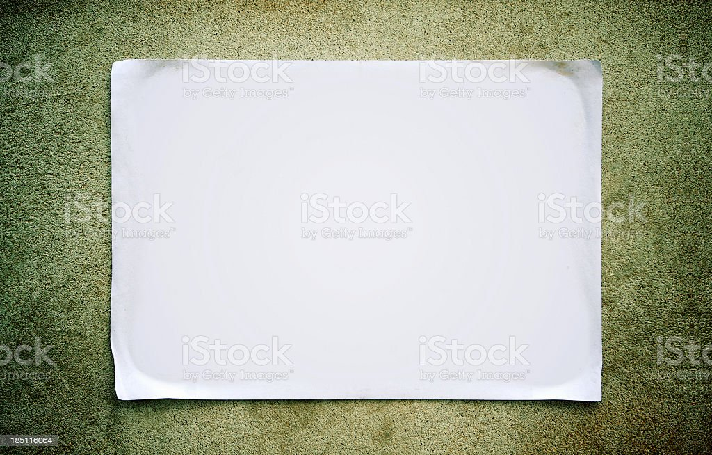 Blank Notice stock photo