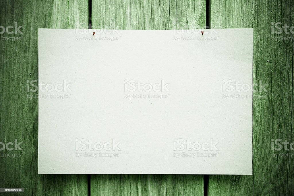 Blank Notice royalty-free stock photo