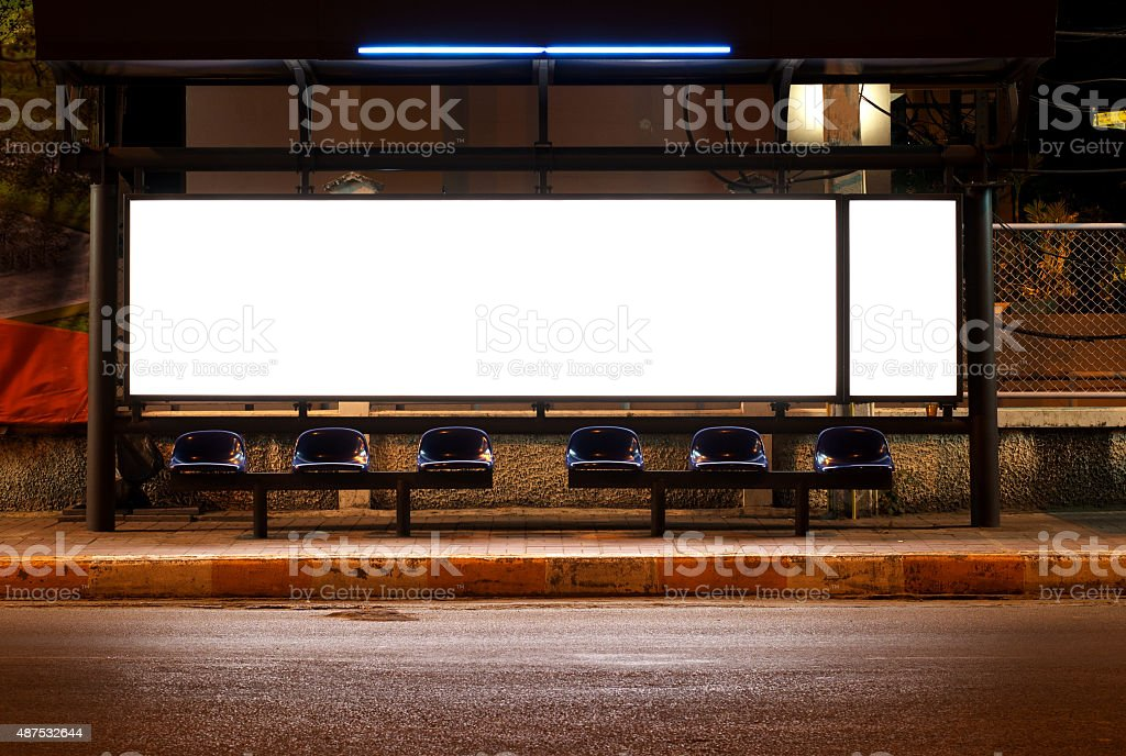 blank of billboards stock photo