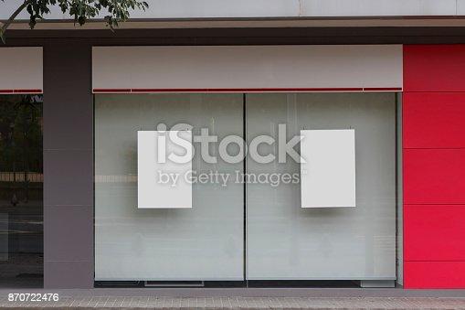 istock Blank office mock up 870722476
