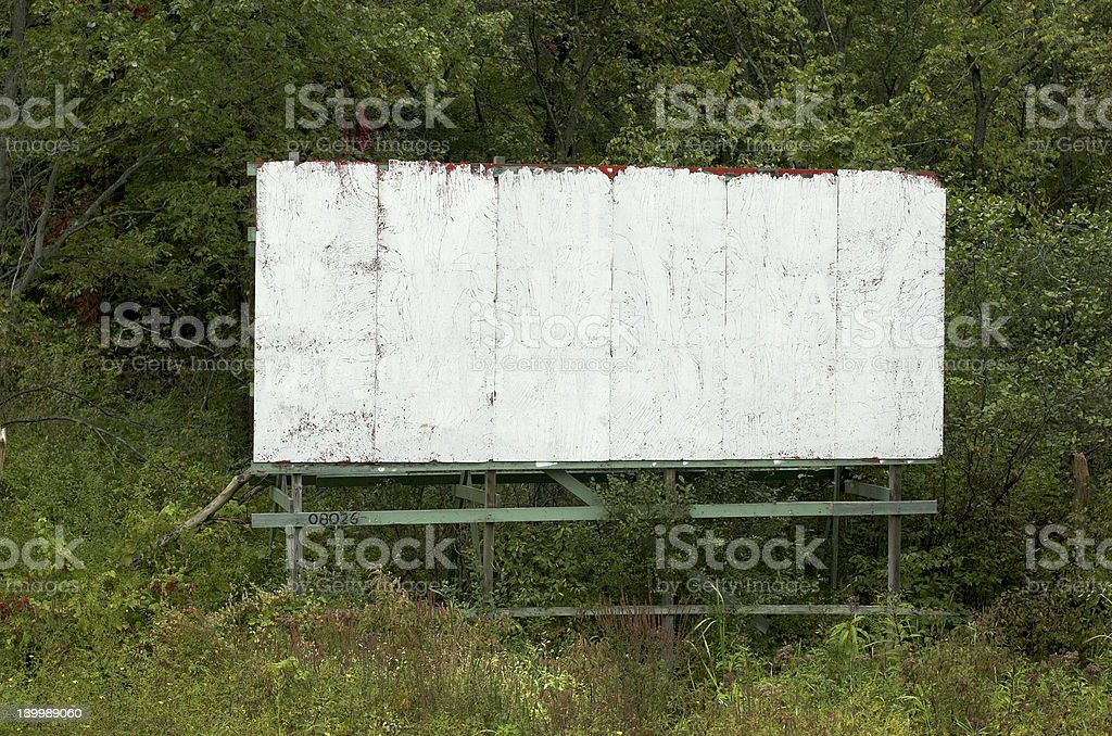 blank old billboard stock photo