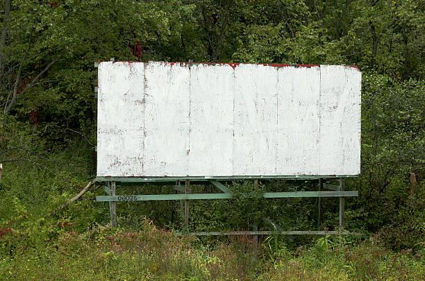 blank old billboard stock photo
