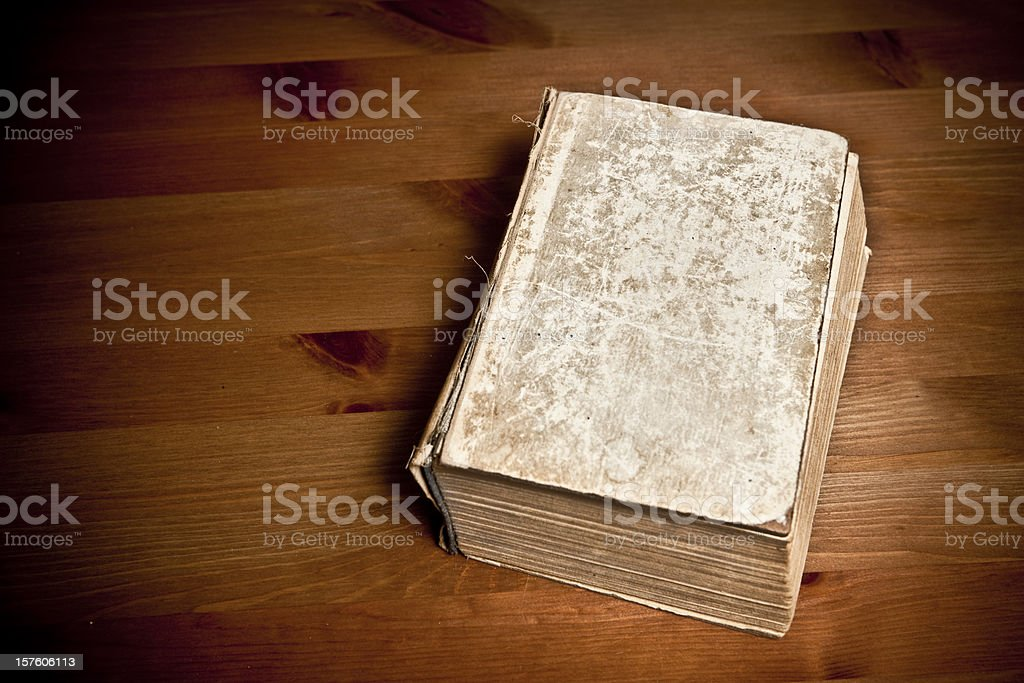 Blank old book stock photo