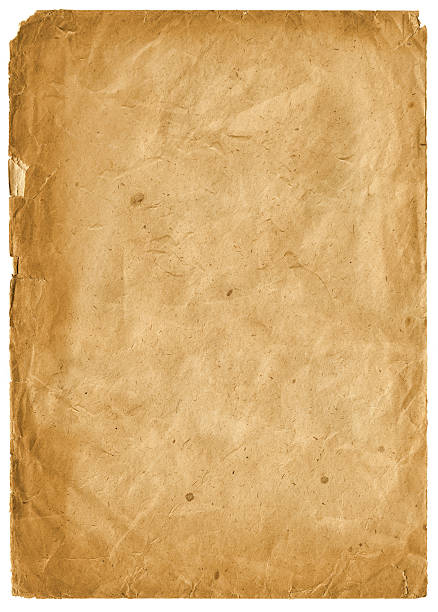 blank old crumpled paper stock photo
