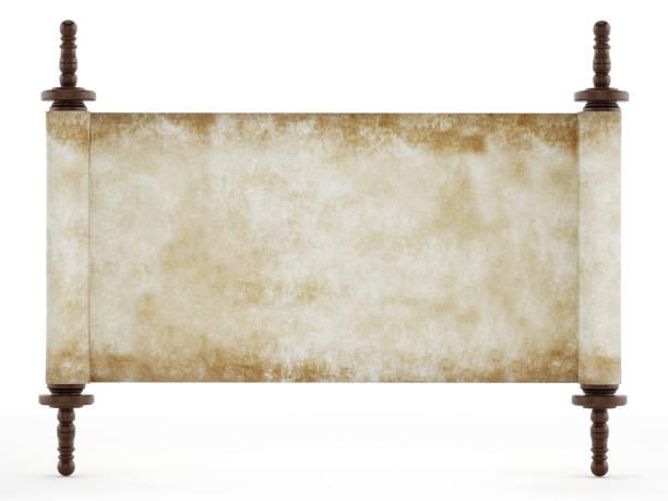 Leere alte Manuskriptseite oder Pergament isoliert auf weiß – Foto