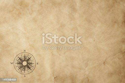 istock Blank old map background 149268459