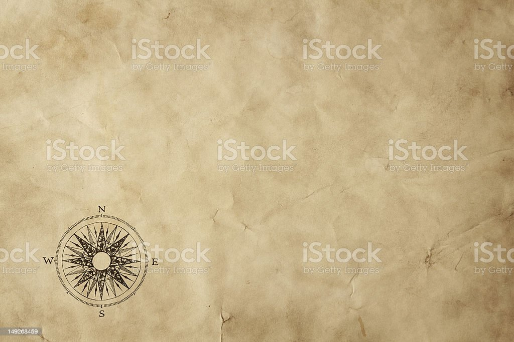 Blank old map background stock photo