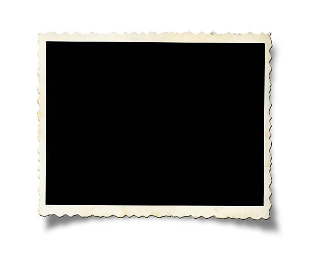blank old photo paper - ancient white background bildbanksfoton och bilder