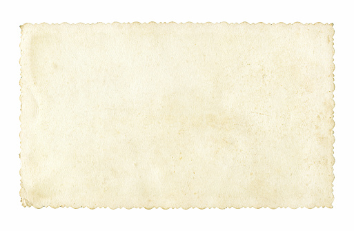 Blank old picture frame textured isolated on white background