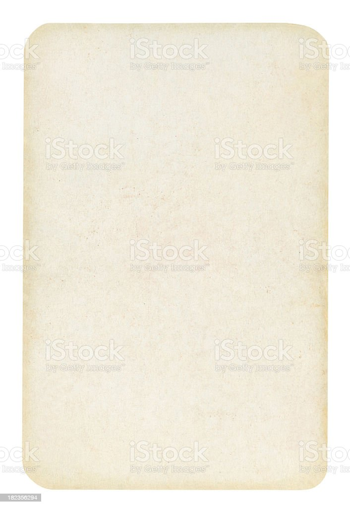 Blank Old Playing card Isolated (clipping path included) stock photo