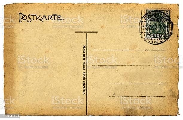 Blank Old Postcard