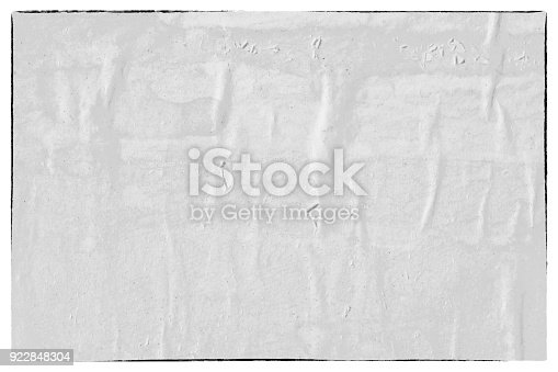 962578882 istock photo Blank old ripped torn crumpled creased posters grunge textures backdrop backgrounds 922848304