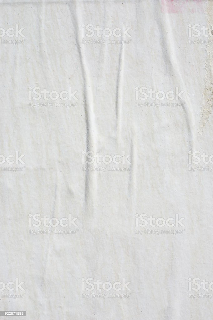 Blank old ripped torn crumpled creased posters grunge textures backdrop backgrounds royalty-free stock photo