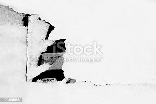 962578882 istock photo Blank old ripped torn paper crumpled creased posters grunge textures backdrop background 1023558882