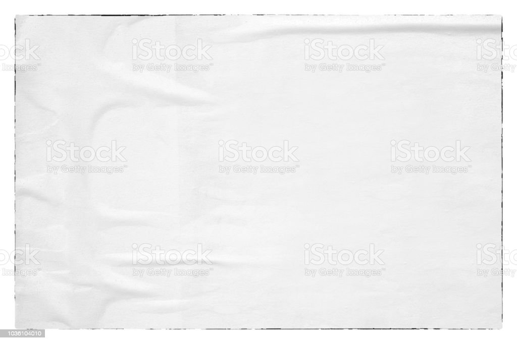 Blank old ripped torn paper crumpled creased posters grunge textures backdrop background royalty-free stock photo