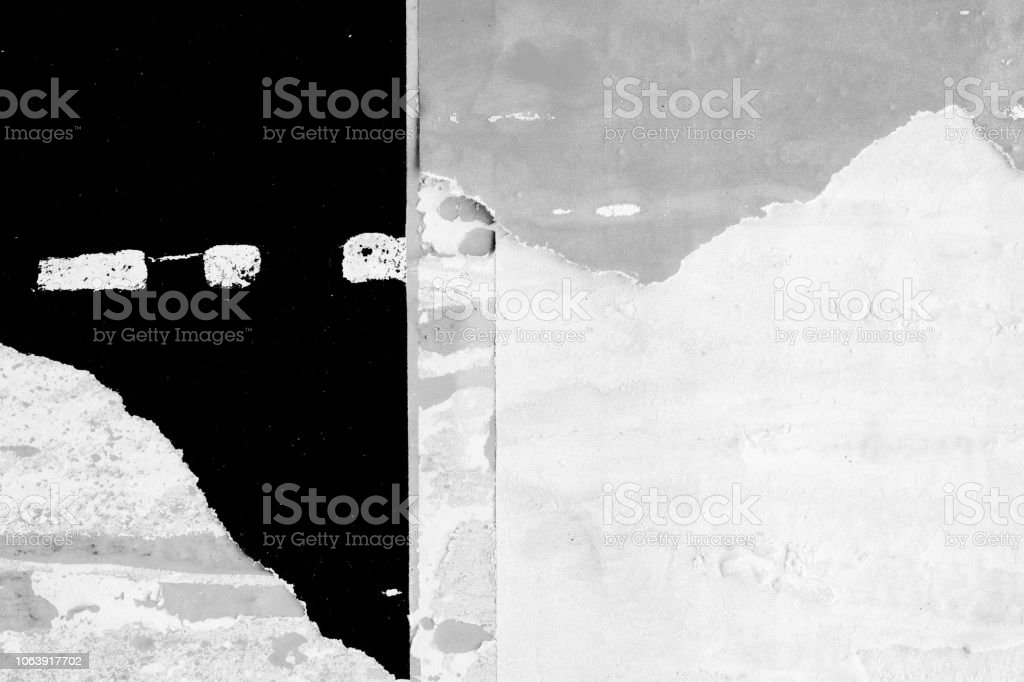 Blank old ripped torn paper crumpled creased posters grunge textures backdrop backgrounds placard frame stock photo