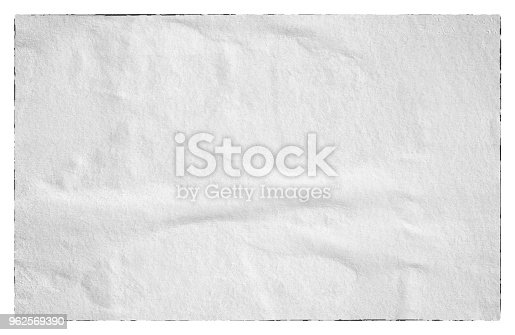 istock Blank old ripped torn paper crumpled creased posters grunge textures backdrop backgrounds 962569390