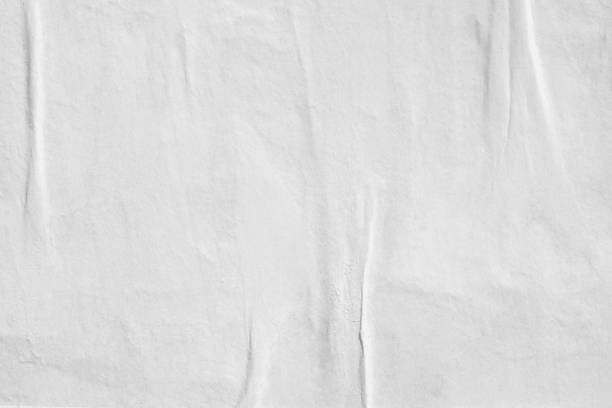빈 오래 된 찢어진된 찢어진된 종이 구겨진 주름 잡은 포스터 그런 지 질감 배경 배경 - 주름 뉴스 사진 이미지