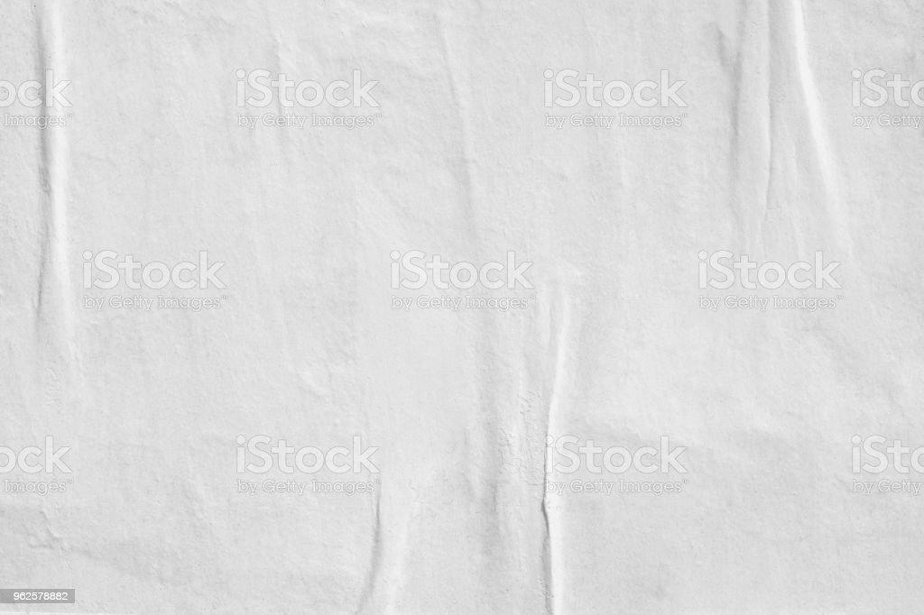 Leeres alte zerrissenes zerrissenes Papier zerknittert gefaltete Plakate Grunge Texturen Hintergrund Hintergründe – Foto